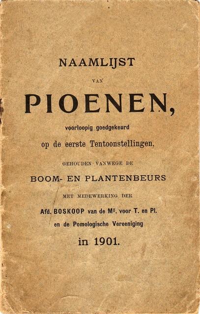 Naamlijst van Pioenen